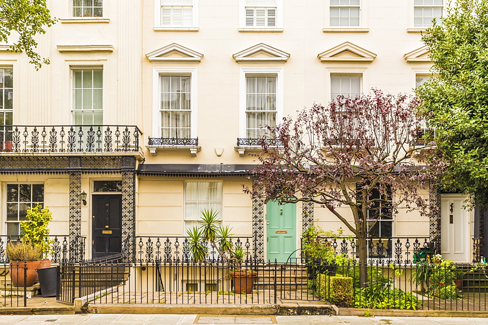 Beautiful architecture in Notting Hill in London, England, United Kingdom, Europe. - 1297-188
