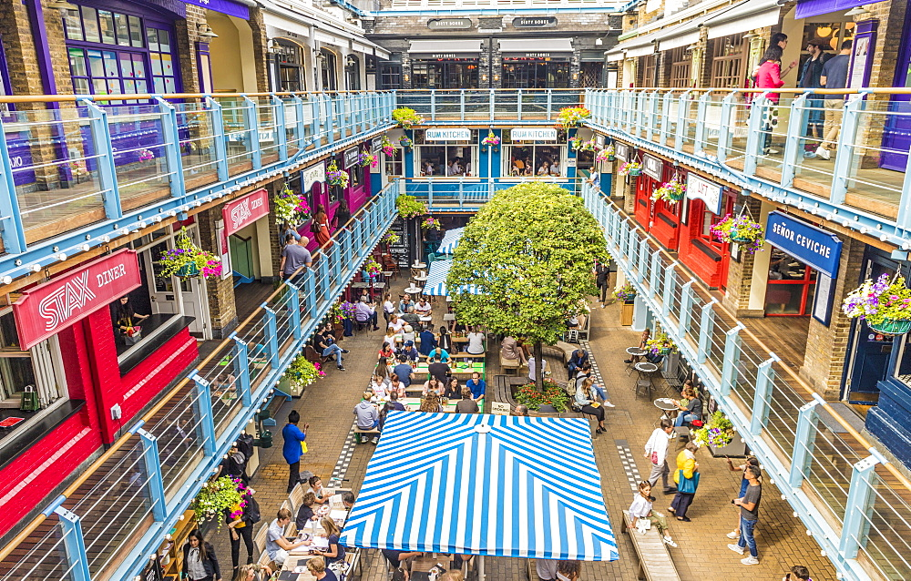 Kingly Court food market in Soho, London, England, United Kingdom, Europe