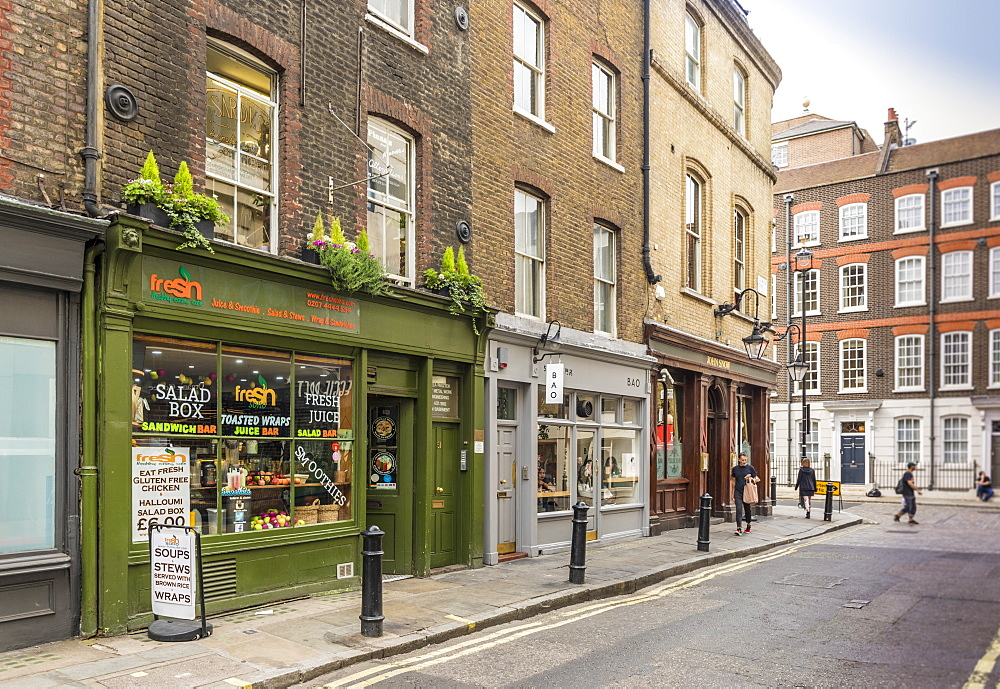 A typical street in Soho, London, England, United Kingdom, Europe. - 1297-206