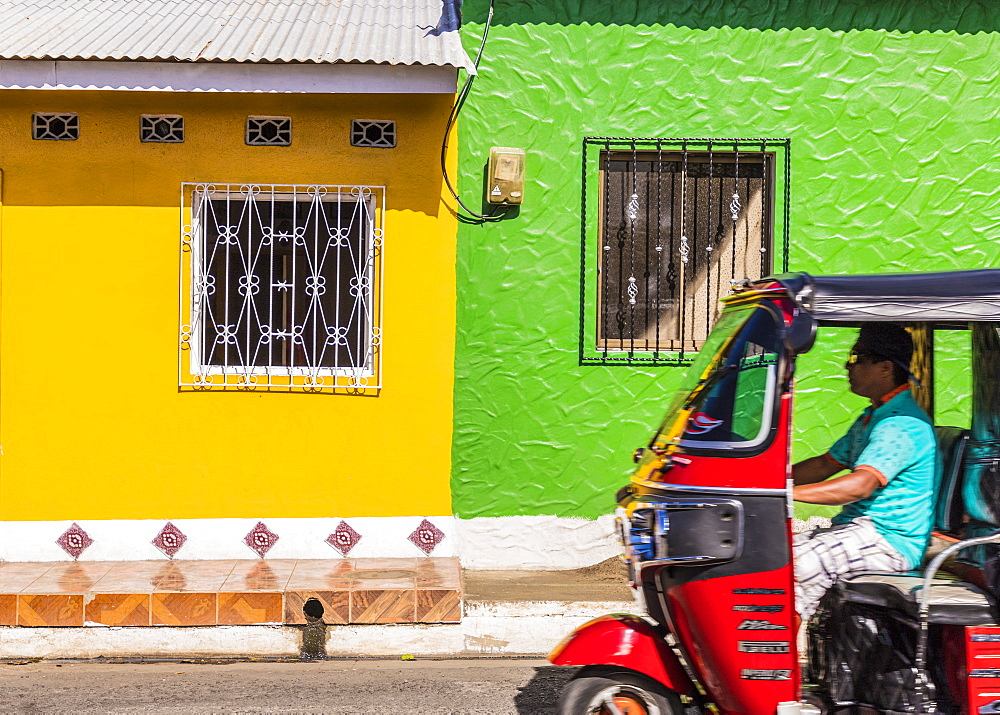 Colourful architecture on Ometepe Island, Nicaragua, Central America