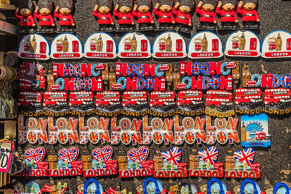 Souvenirs for sale, London, England, United Kingdom, Europe