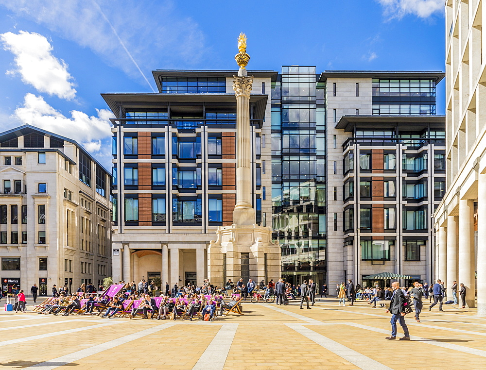 Paternoster Square in the City of London, London, United Kingdom, Europe