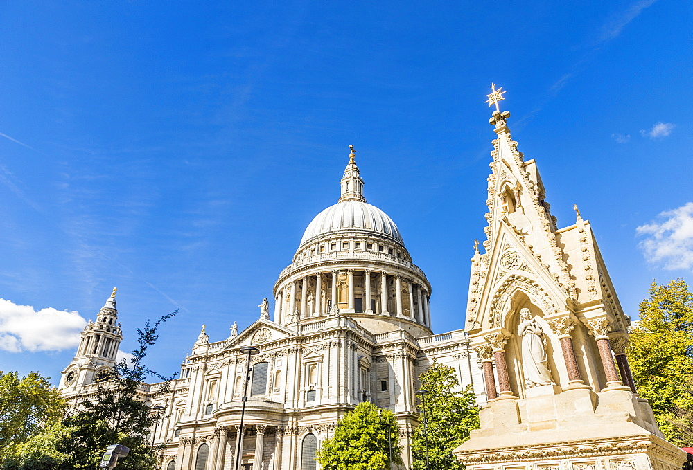 St Paul's Cathedral in the City of London, London, United Kingdom, Europe.
