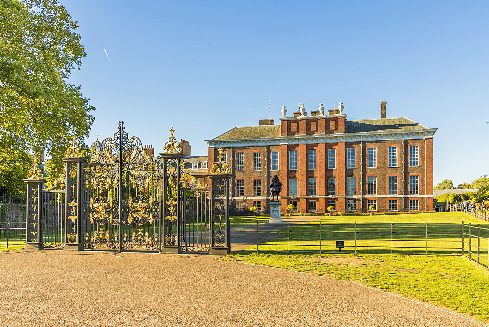 Kensington Palace in Kensington Gardens, Hyde Park, in London, England, United Kingdom, Europe.
