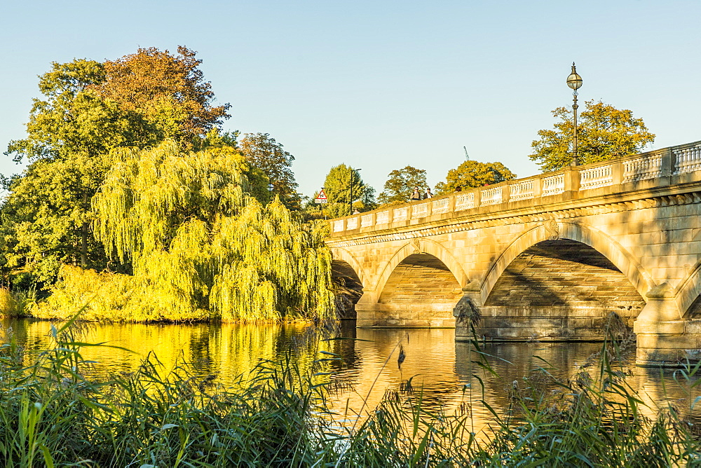 The Serpentine Bridge in Hyde Park in London, England, United Kingdom, Europe.
