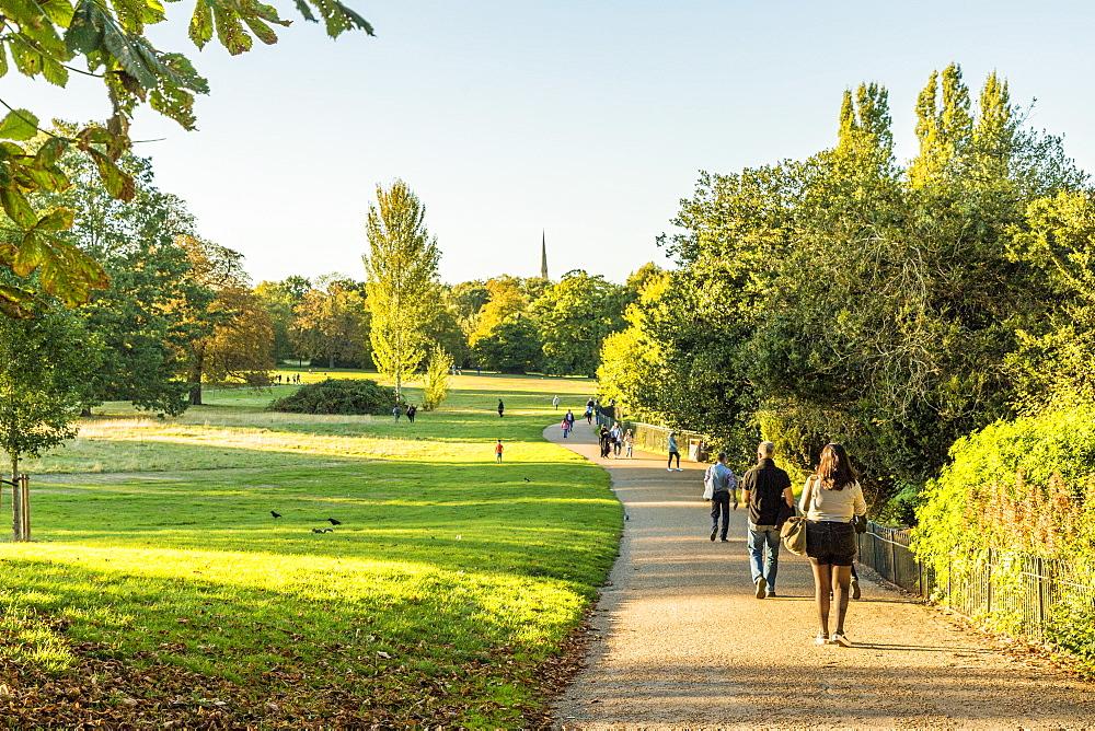 Kensington Gardens, Hyde Park, in London, England, United Kingdom, Europe.