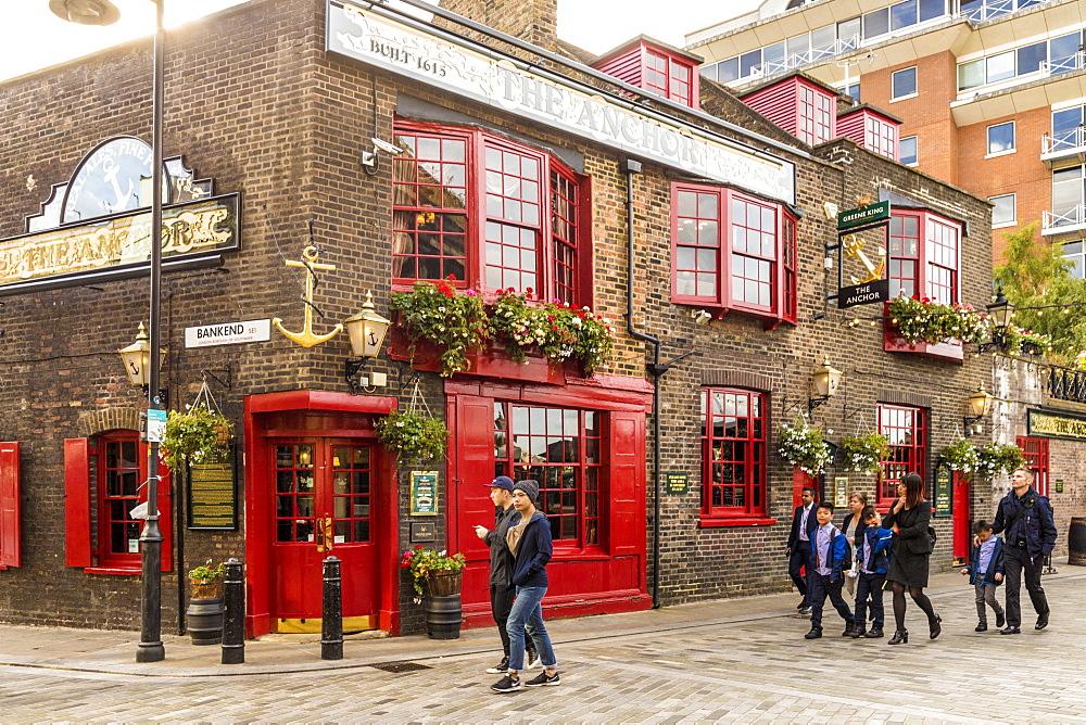 The Anchor pub in London, England, United Kingdom, Europe.