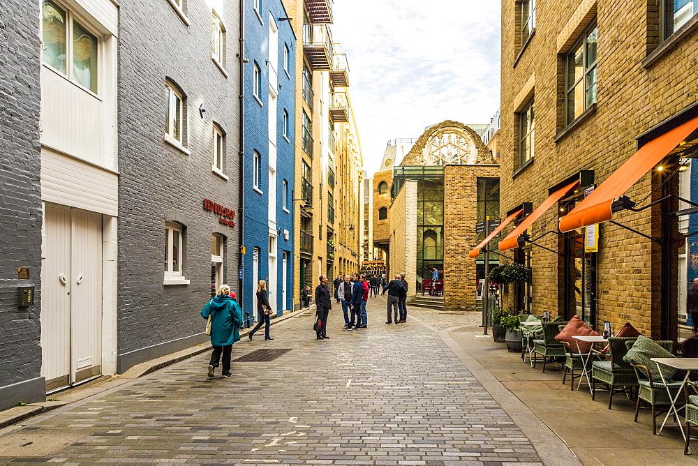 A street scene in Southwark, London, England, United Kingdom, Europe