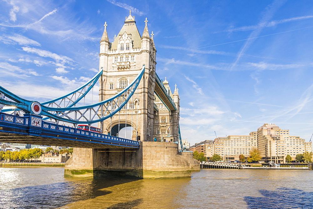 Tower Bridge in London, England, United Kingdom, Europe. - 1297-359
