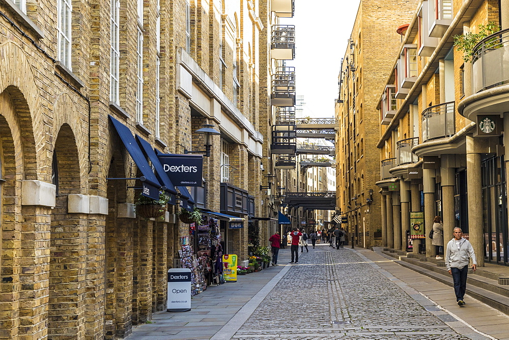 The historic Victorian streets and converted warehouses in Shad Thames, London, England, United Kingdom, Europe