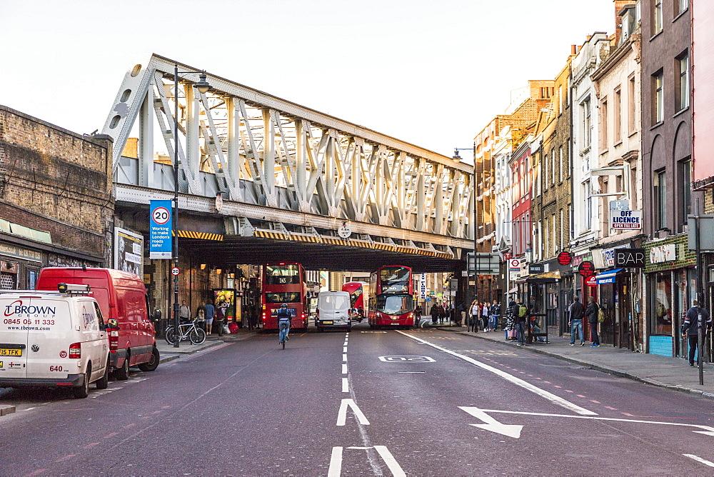 Shoreditch High Street in London, England, United Kingdom, Europe. - 1297-396