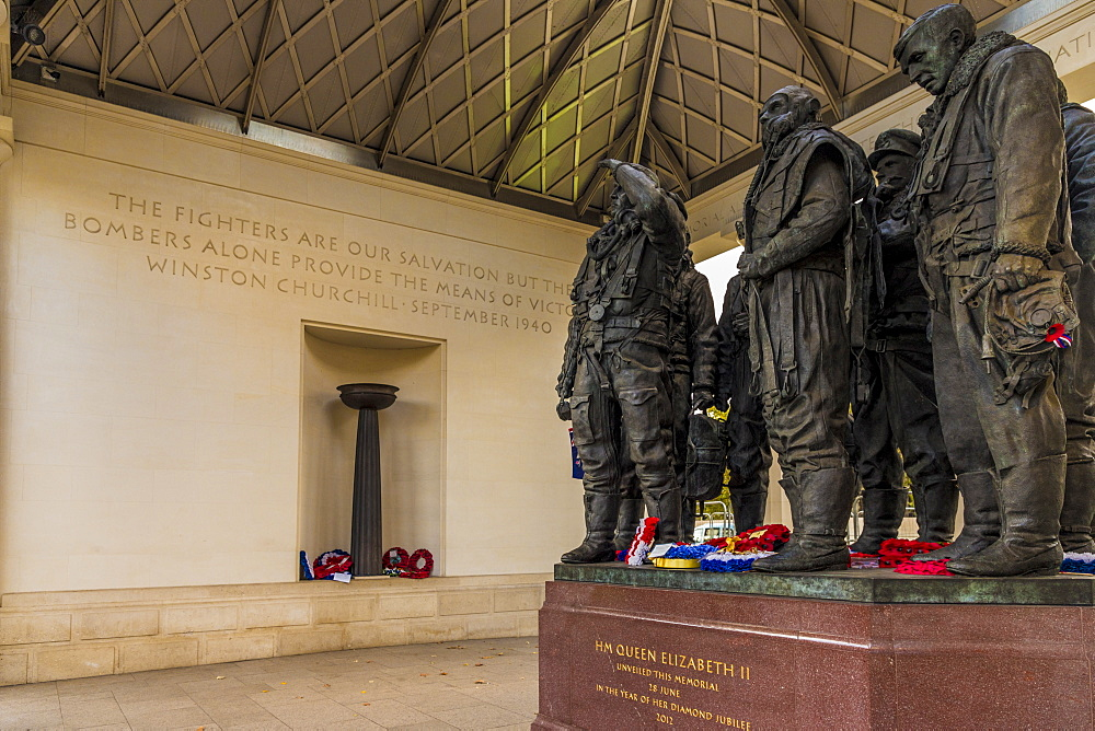 The Bomber Command Memorial in Green Park along Piccadilly, London, England, United Kingdom, Europe