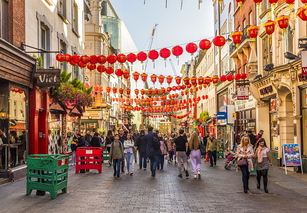 Wardour Street in Chinatown in Soho, London, England, United Kingdom, Europe - 1297-434