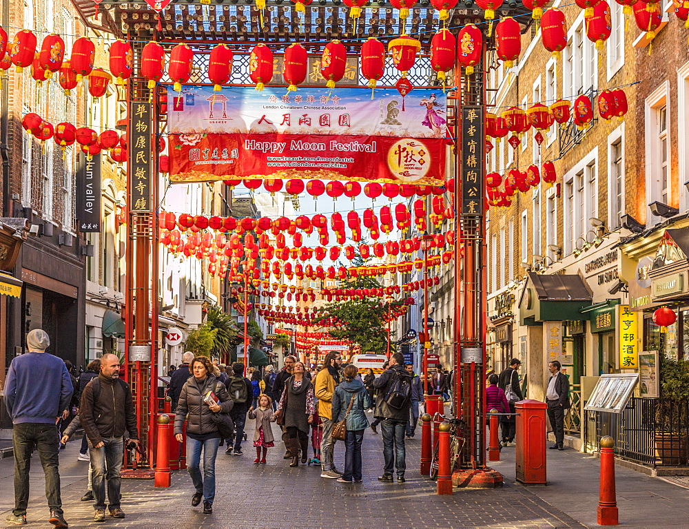 Gerrard Street in Chinatown, London, England, United Kingdom, Europe - 1297-437