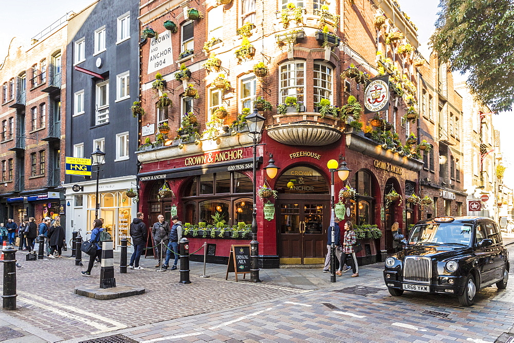The Crown and Anchor pub in Covent Garden, London, England, United Kingdom, Europe - 1297-449