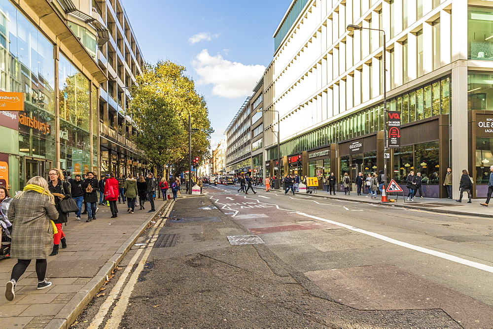 Tottenham Court Road in London, England, United Kingdom, Europe. - 1297-461