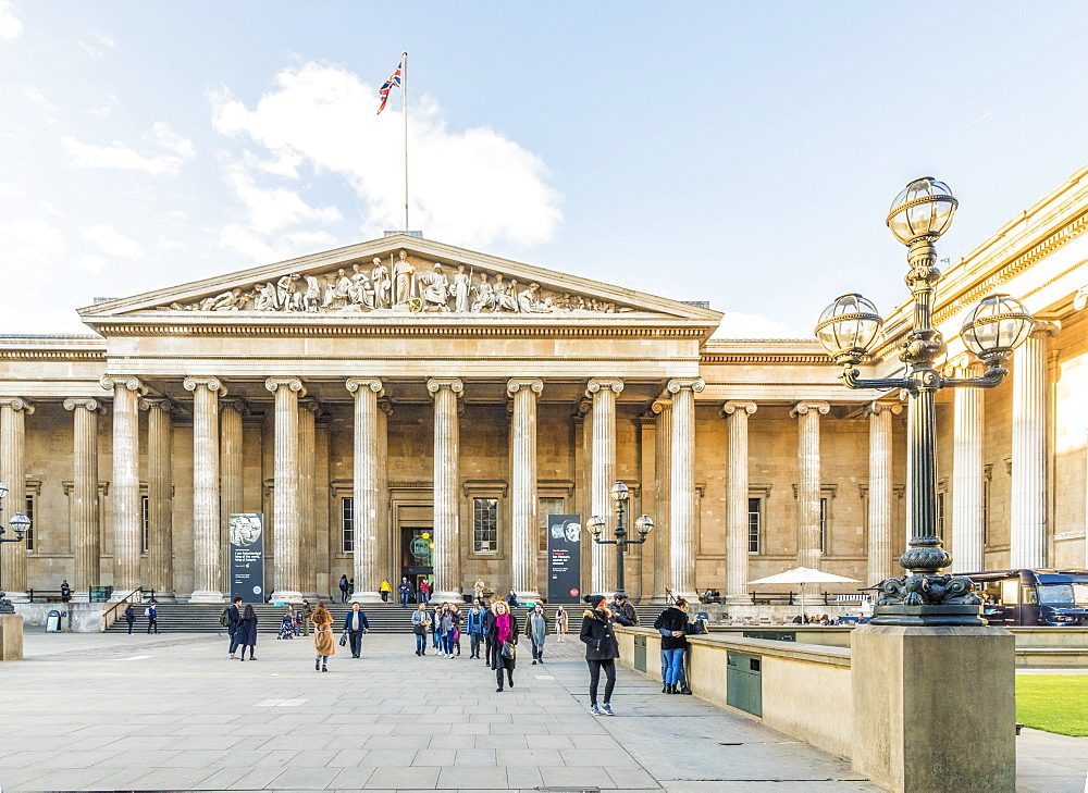 The British Museum in Bloomsbury in London, England, United Kingdom, Europe. - 1297-466