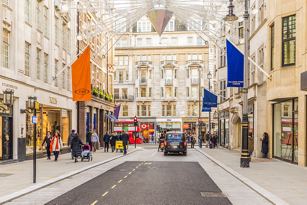 Old Bond Street in Mayfair, with its luxury stores and elegant brands in London, England, United Kingdom , Europe. - 1297-474