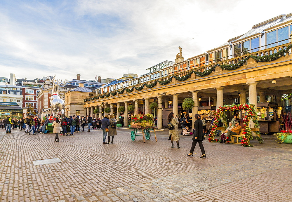 Christmas in Covent Garden Market, in London, England, United kingdom, Europe. - 1297-484