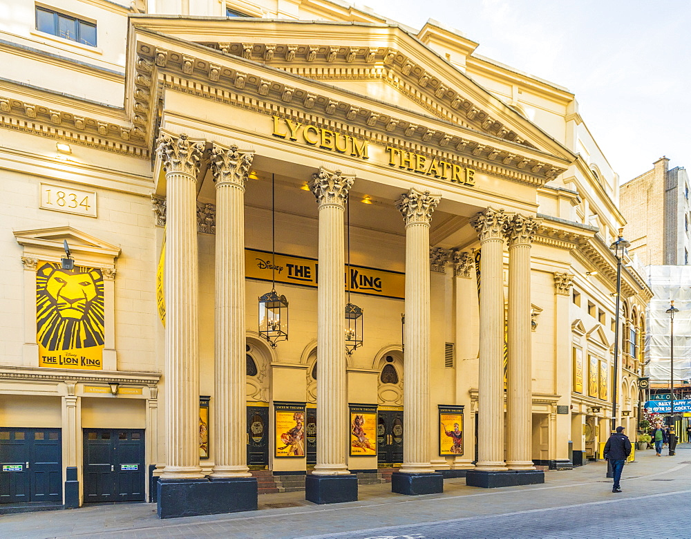 The Lyceum theatre in Covent Garden in London, England, United Kingdom, Europe.