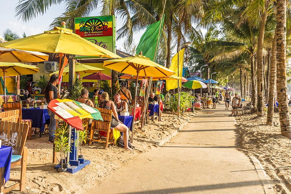 Food stalls along Kamala beach in Phuket, Thailand, Southeast Asia, Asia