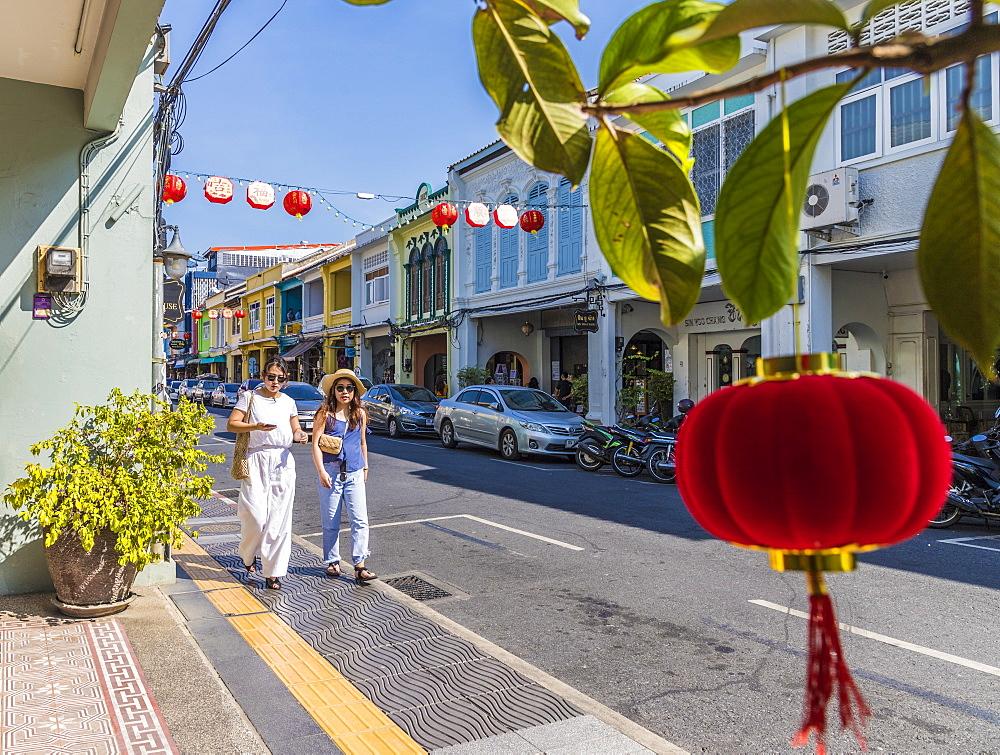 A street scene in Phuket old town, Phuket, Thailand, Southeast Asia, Asia. - 1297-556