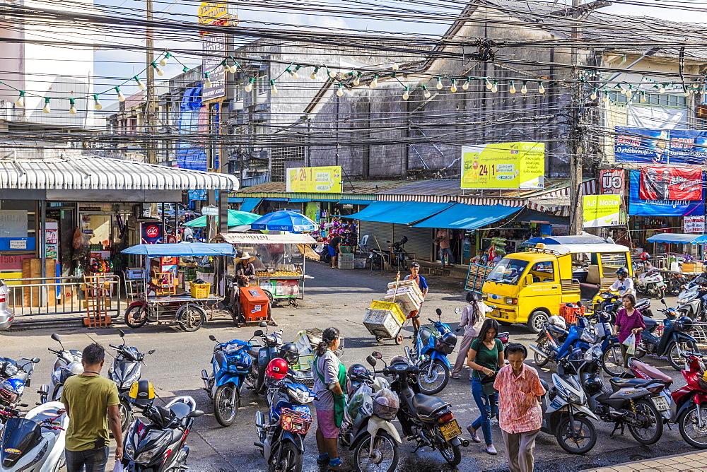 A street scene in Phuket old town, Phuket, Thailand, Southeast Asia, Asia. - 1297-592