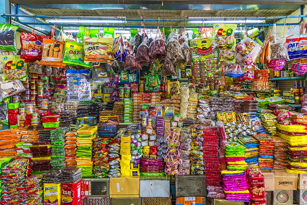 A colourful stall at the indoor market in Phuket old town, Phuket, Thailand, Southeast Asia, Asia.