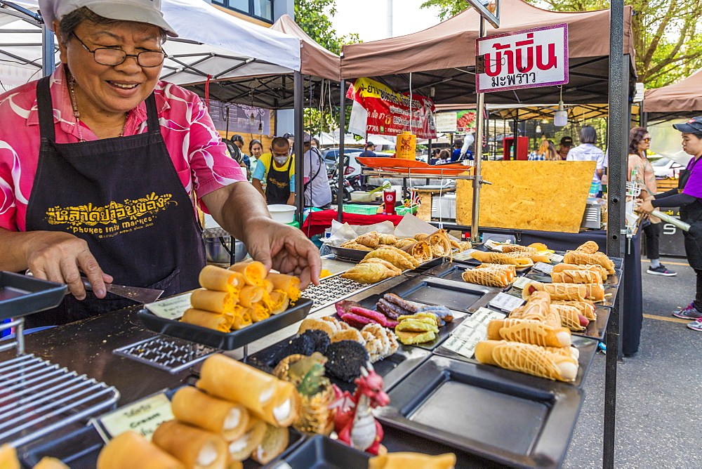 A food stall at the Indy market in Phuket old town, Phuket, Thailand, Southeast Asia, Asia - 1297-599