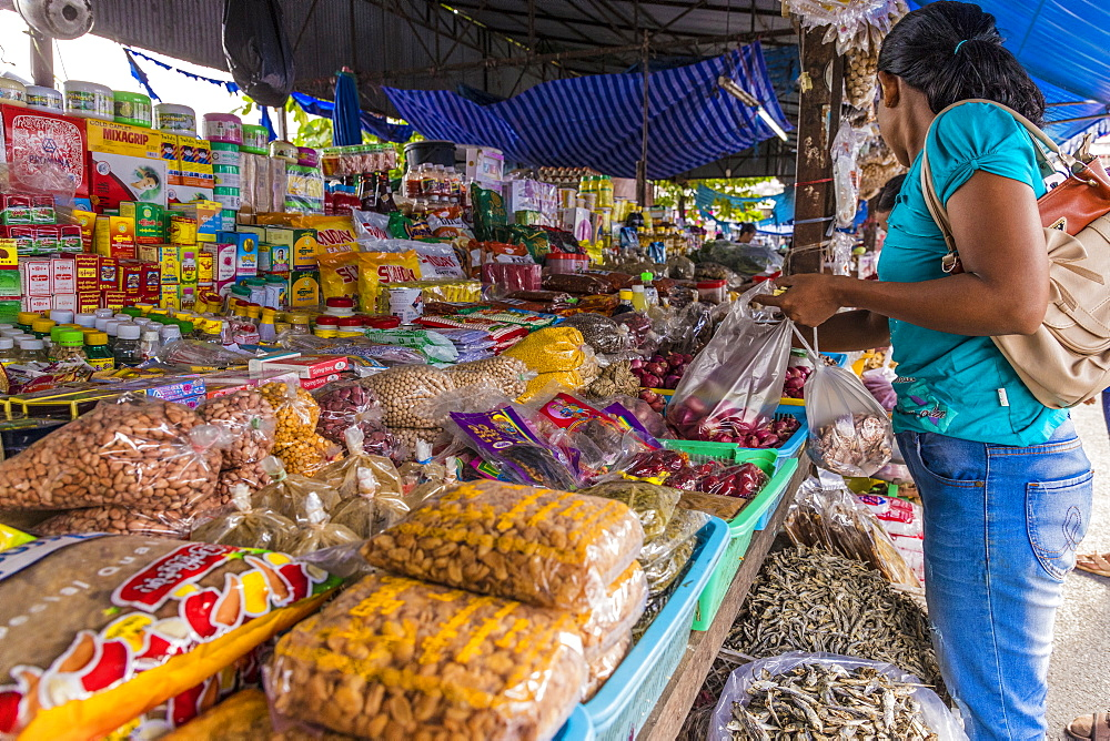 A colourful stall at the 24 hour local market in Phuket Town, Phuket, Thailand, Southeast Asia, Asia