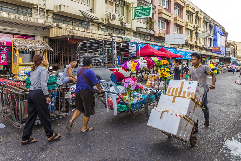 A market scene at the 24 hour local market in Phuket Town, Phuket, Thailand, Southeast Asia, Asia. - 1297-621