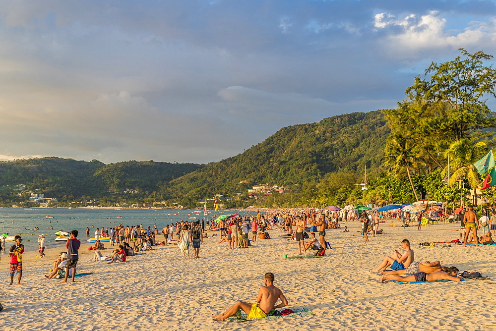 Patong beach in Patong, Phuket, Thailand, Southeast Asia, Asia