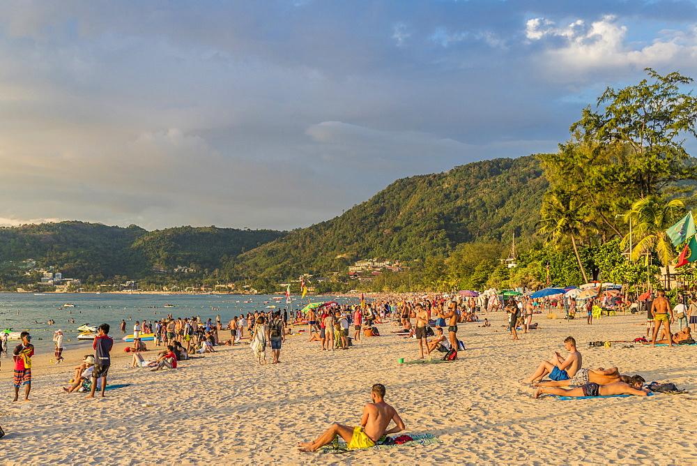 Patong beach in Patong, Phuket, Thailand, Southeast Asia, Asia.