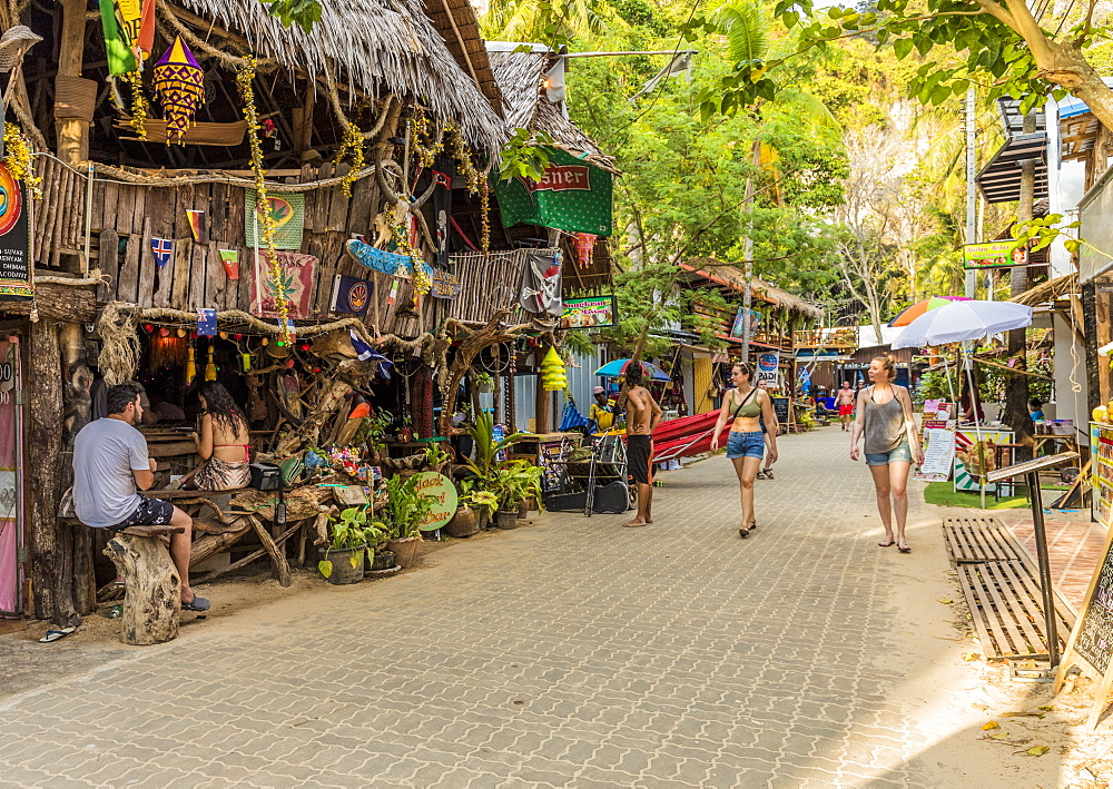 Walking Street in Railay, Ao Nang, Krabi Province, Thailand, Southeast Asia, Asia.