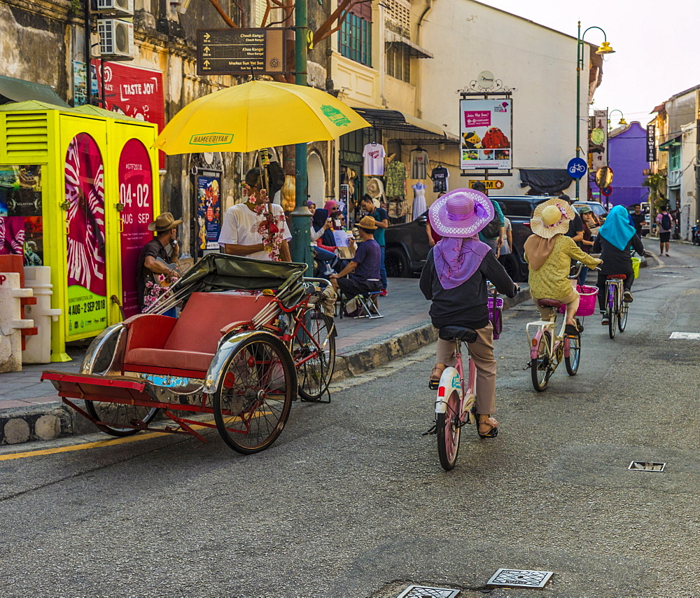 A street scene in George Town, Penang Island, Malaysia, Southeast Asia, Asia