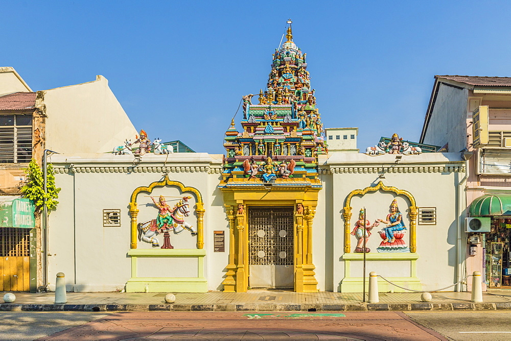 Sri Mahamariamman Temple in Little India, George Town, Penang Island, Malaysia, Southeast Asia, Asia