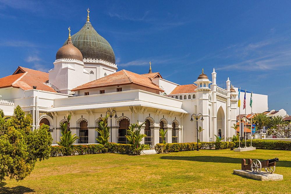 Kapitan Keling Mosque, in George Town, Penang Island, Malaysia, Southeast Asia, Asia.