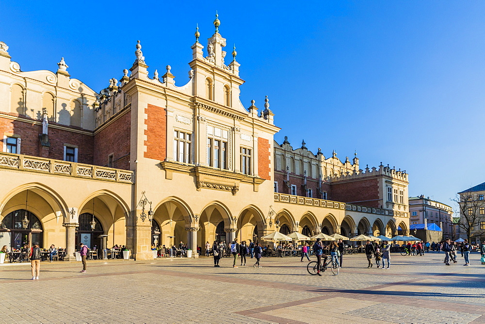 Cloth Hall in the main square, Rynek Główny, in the medieval old town a UNESCO World Heritage site, in Krakow, Poland, Europe.