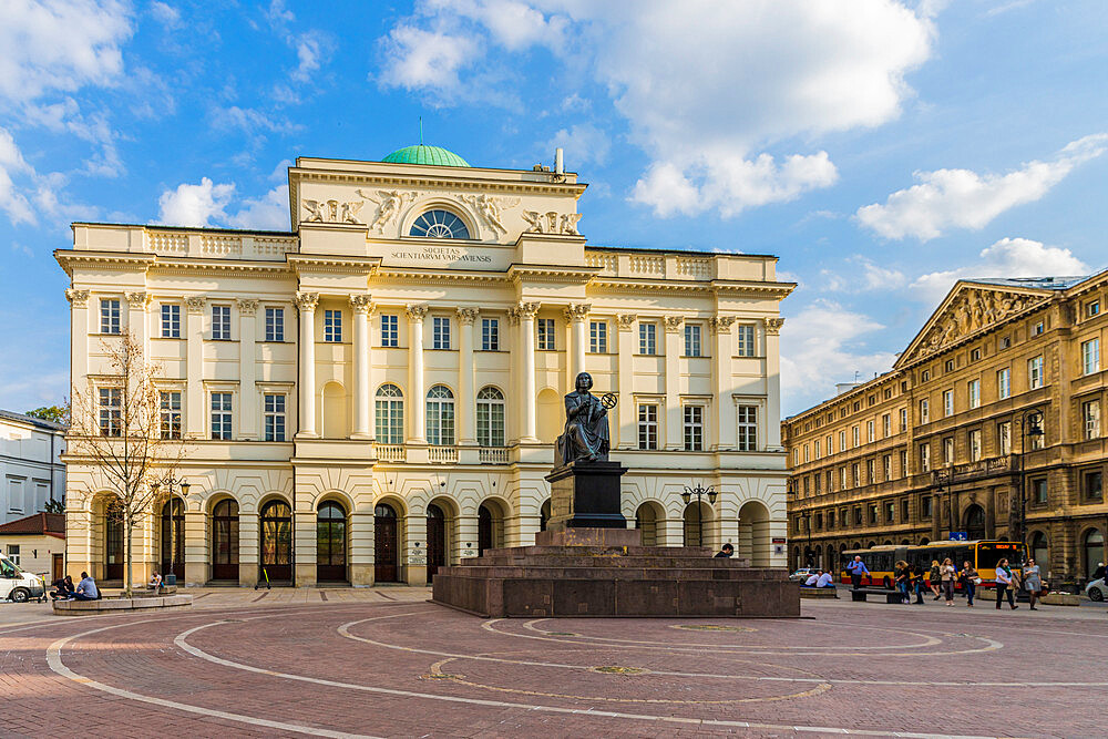 The Polish Academy of Sciences in the Old Town, a UNESCO World Heritage site in Warsaw, Poland, Europe.