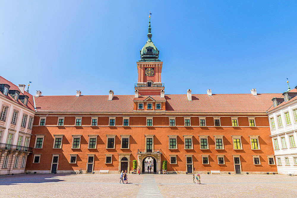 The Royal Castle in the old town, a UNESCO World Heritage site in Warsaw, Poland, Europe. - 1297-905