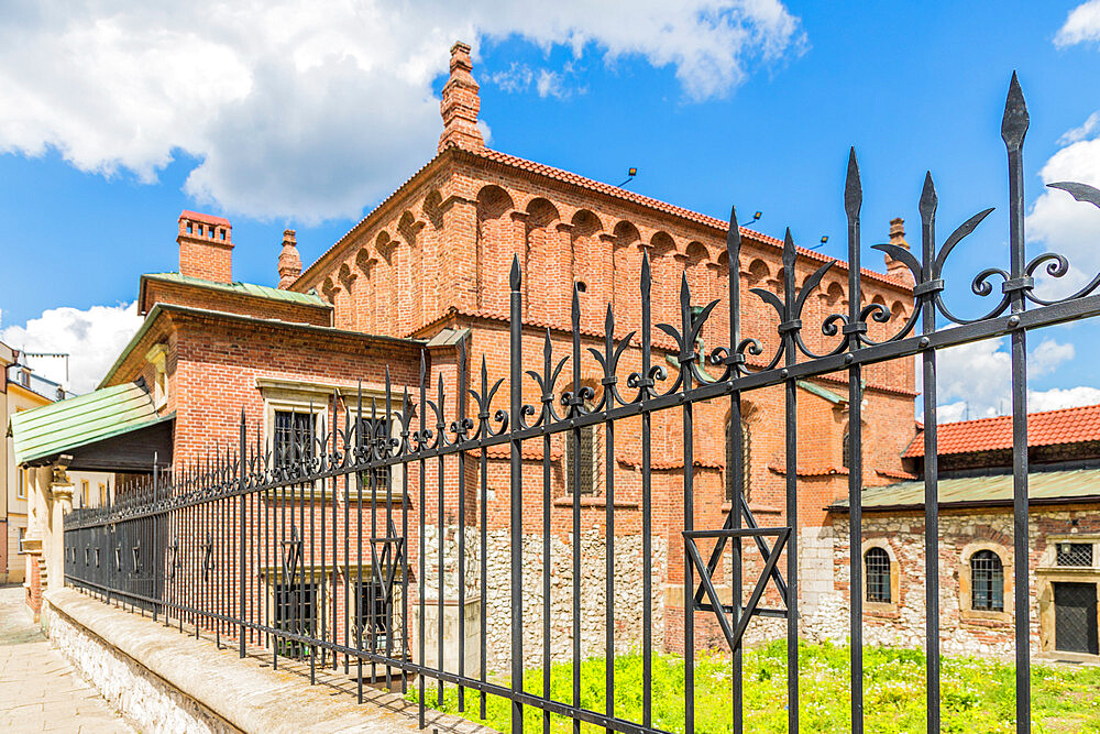 The Old Synagogue in Kazmierz, the historical former Jewish District in Krakow, Poland, Europe.