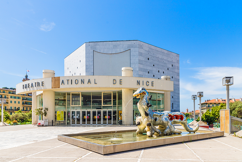 The National Theatre of Nice in Nice, Alpes Maritimes, Cote d'Azur, French Riviera, Provence, France, Mediterranean, Europe