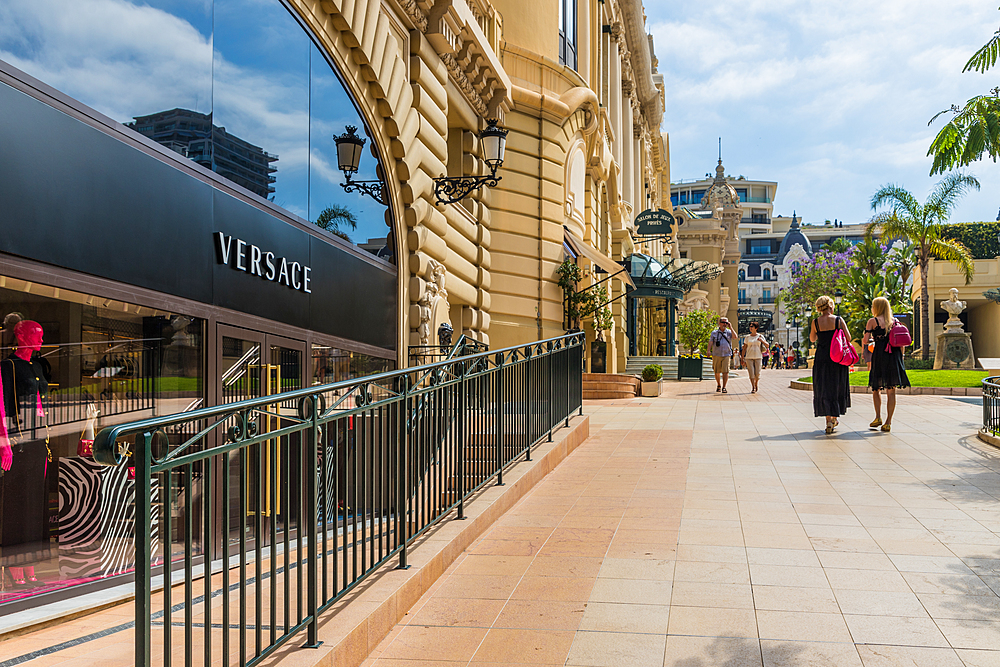 The upmarket Allee Francois Blanc in Monte Carlo, Monaco, Cote d'Azur, French Riviera, Mediterranean, France, Europe