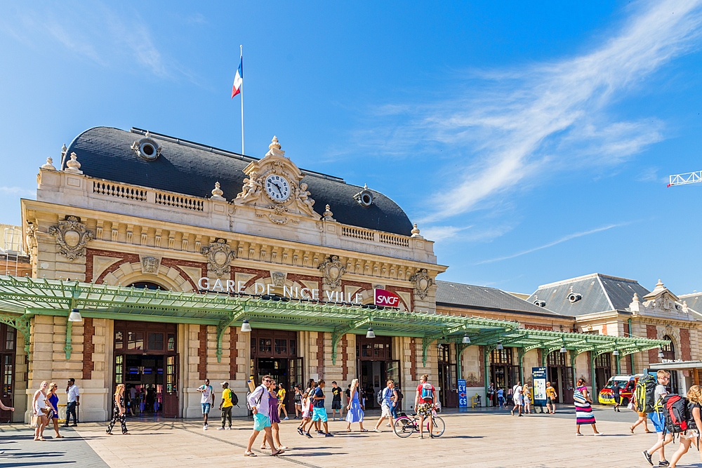 Nice train station in Nice, Alpes Maritimes, Cote d'Azur, French Riviera, Provence, France, Mediterranean, Europe