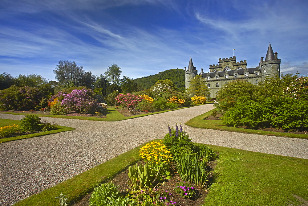 Inveraray Castle, the ancestral seat of the Dukes of Argyll, Inveraray, Argyll and Bute, Scotland, United Kingdom, Europe
