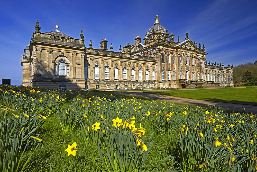 Springtime at Castle Howard, North Yorkshire, England, United Kingdom, Europe - 1298-38