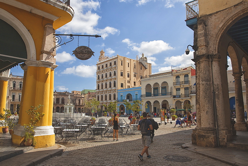 Old square in the centre of Havana, Cuba, West Indies, Caribbean, Central America