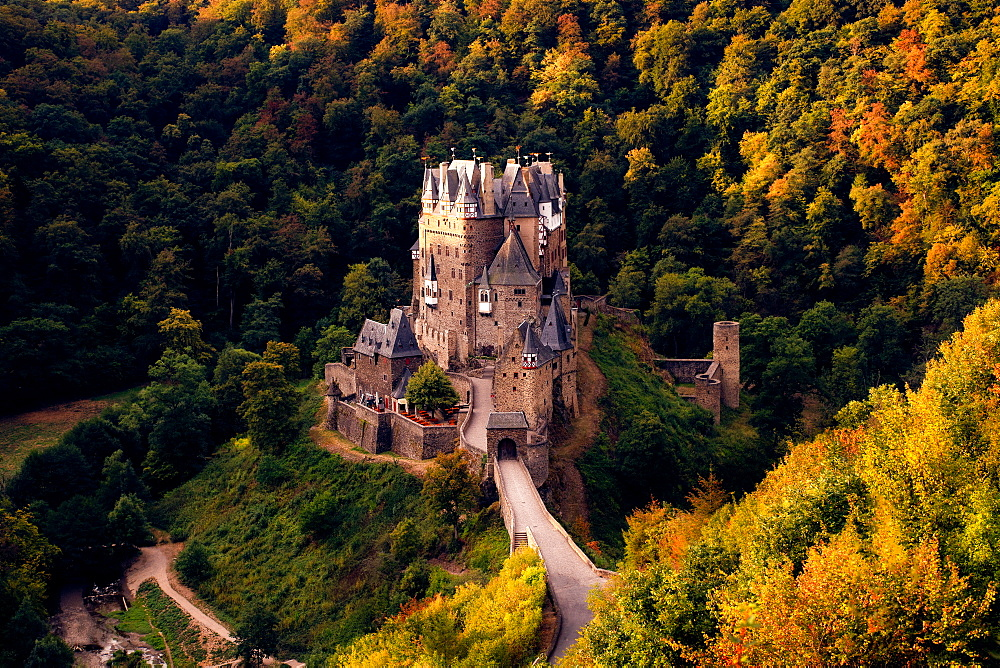 Burg Eltz Castle in Germany at sunrise. - 1304-11
