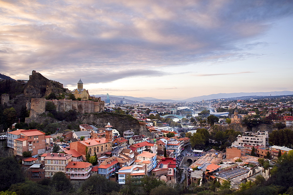 Sunset over the city of Tbilisi from a secret lookout point. - 1304-15
