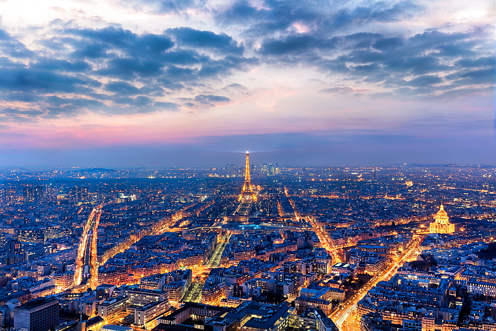 Paris looking out from the Montparnasse Tower. - 1304-7